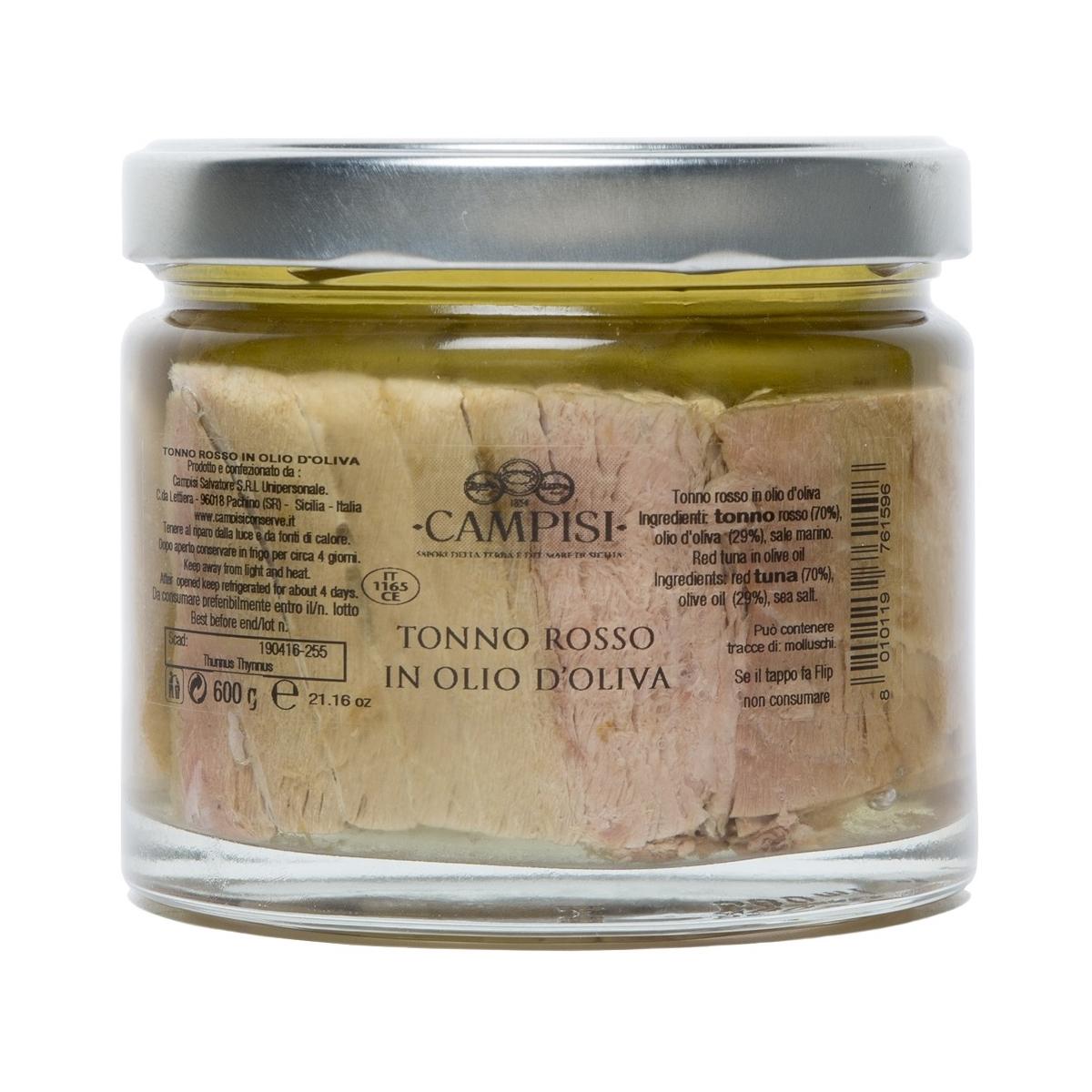 tonno rosso in olio di oliva campisi conserve
